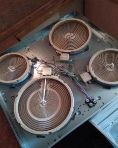 Замена конфорок плиты